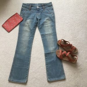 D&G Bootcut Blue Distressed Jeans Size 28